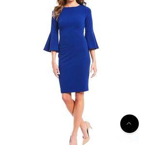 Royal Blue Bell Sleeve Dress Sz 2